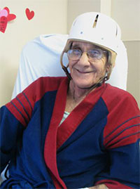 Helmets aid patients' safety