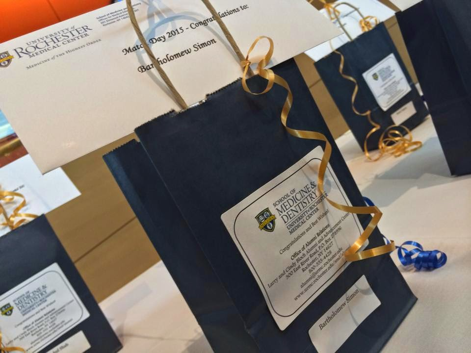 Match Day 2015 Gift Bags and Envelope