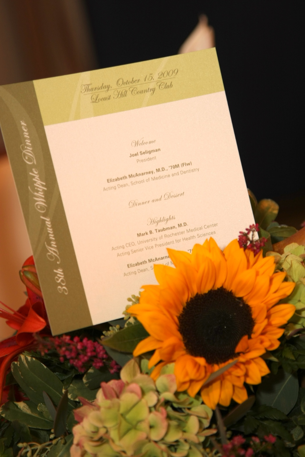 invite with flowers