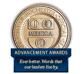 University of Rochester Official Seal: MELIORA - Advancement Awards: Ever better. Words that our leaders live by.