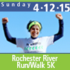 Sunday 4-12-15, 14th Annual Rochester River Run/Walk