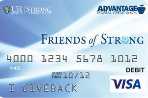 The Friends of Strong Give Back Card from Advantage FCU