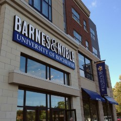 Owned and operated by Barnes & Noble College Booksellers, the campus  bookstore is located on the lower level of the Ruth S. Harley University  Center.