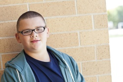 Photo of overweight teen