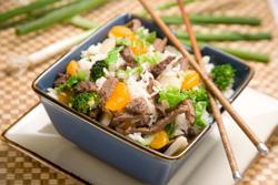 Mandarin stir fry beef