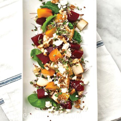 Roasted Beet and Pear Salad