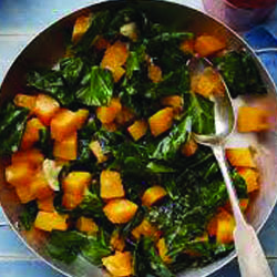 Zippy Sweet Potatoes and Collard Greens