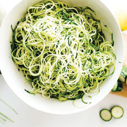 Zucchini and Summer Squash Noodles with Oregano, Basil, and Lemon