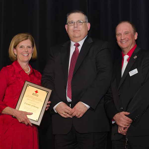 Friends of Strong, URMC Recognized for Unparalleled Support of Red Cross Blood Drives
