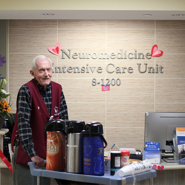 Going Strong: Volunteer Bud Wesley Recognized for Decades of Service to Patients and Families