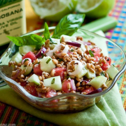 Wheat Berry Salad with Watermelon and Arugula