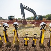 Patients help break ground on new autism clinic and imaging center