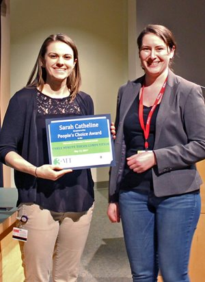 Pathology Graduate Student Awarded in Three-Minute Thesis Event