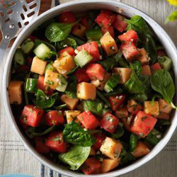 Melon and Spinach Salad