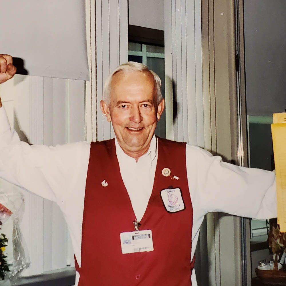 Long-Time Hospital Volunteer Bud 'The Candy Man' Wesley Remembered by Friends of Strong