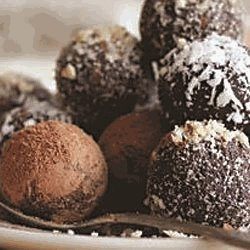 Chocolate Cherry Walnut Truffles