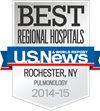 Best Regional Hospitals, U.S. News & World Report: Pulmonology 2014-15