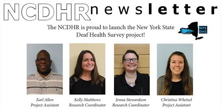 NCDHR newsletter announces launch of NYS Deaf Health Survey