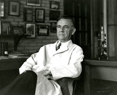 George Hoyt Whipple in his office, late 1930s