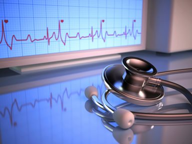 heart monitor and stethoscope