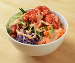 firecracker shrimp in a bowl