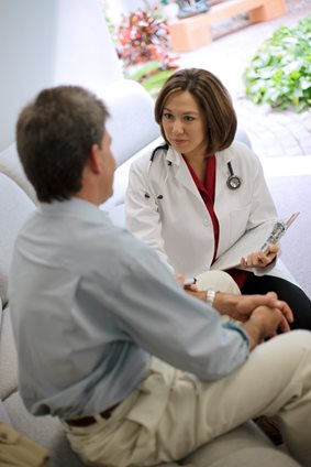 doctor having a conversation with her patient