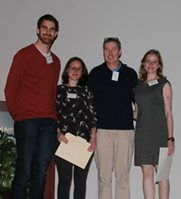 Photo of the winners of the 2017 Neuroscience Retreat best posters awards