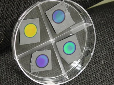 Photo of porous silicon Bragg mirror
