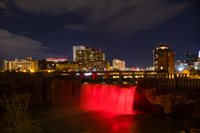 High falls goes red for World AIDS Day