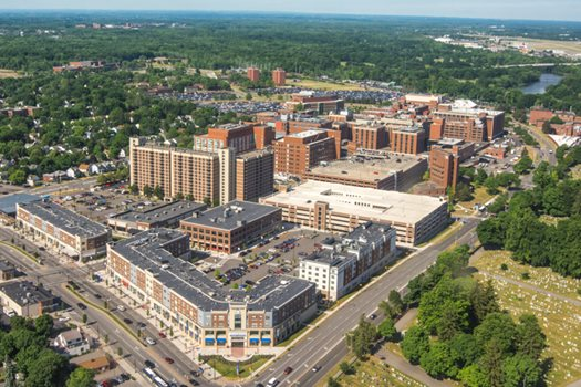 Aerial View of the University of Rochester Medical Center