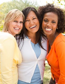 Group of smiling women