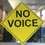 No Voice sign