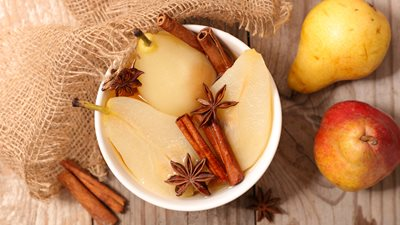 poached pears with star anise
