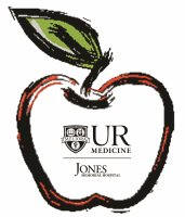 UR Medicine Jones Memorial Hospital Logo in an Apple