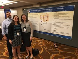 Dr. Wiegand, Dr. Picard and Dr. Sonnenblick with poster presentation on Citalopram Overdose and Severe Serotonin Syndrome in Slow Metabolizing Patient