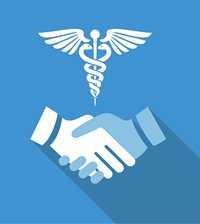Medical Handshake Icon