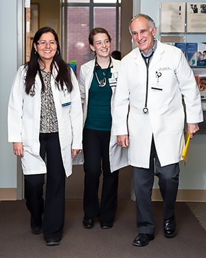 Dr. Berliant walks with Internal Medicine residents