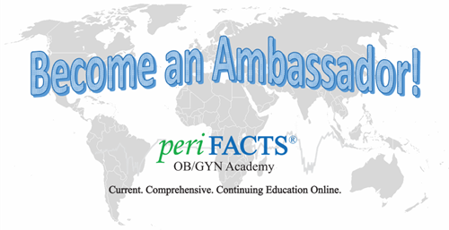 periFACTS Ambassador Program Free subscription individuals groups