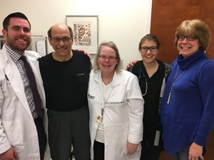 Marty Cyndi and Marty's oncology team