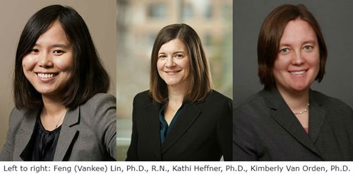 Left to right: Vankee Lin, Kathi Heffner, Kimberly Van Orden