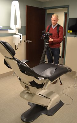 Channel 8 filming chair