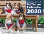 The front of the 2020 Pet Therapy Dog Calendar.