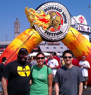 Fellows at the Buffalo Wing Festival