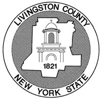 Livingston County New York State Seal: 1821