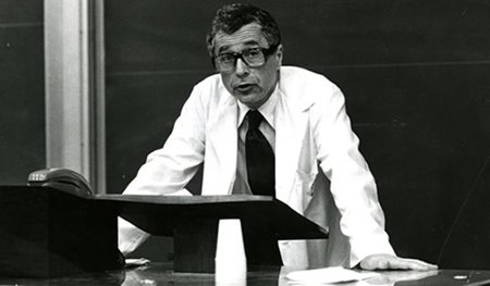 Dr. Thaler lecturing, late 1960s