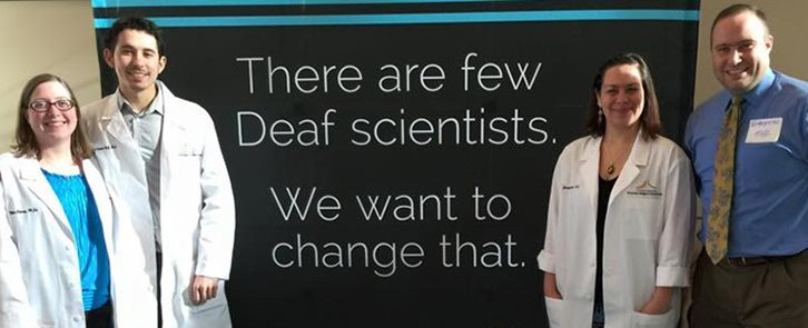 Creating more deaf scientists banner