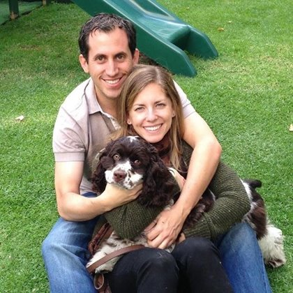 Sergio, his wife and dog