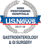 High Performance Hospitals, U.S. News & World Report: Gastroenterology & GI Surgery 2017-18
