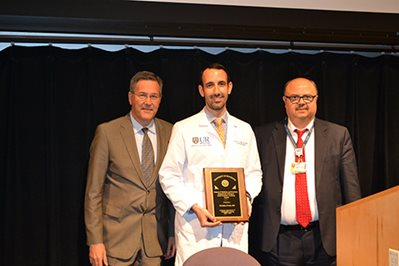Christian Probst presented with the Chief Resident Teaching Award 2017 – 2018.