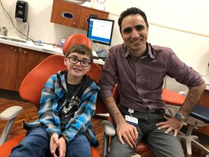 Nathan with Dr. Tofighi